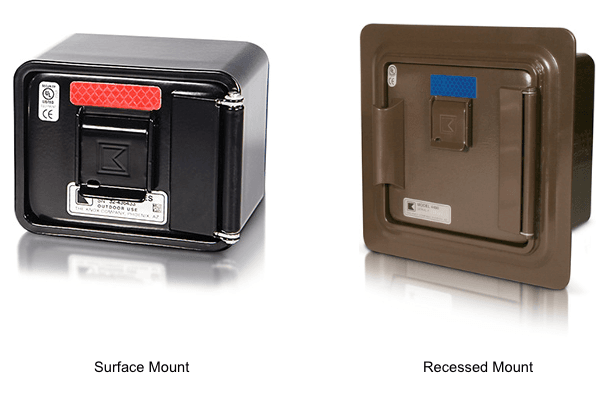 Surface Mount and Recessed Mount Commercial Knox Boxes