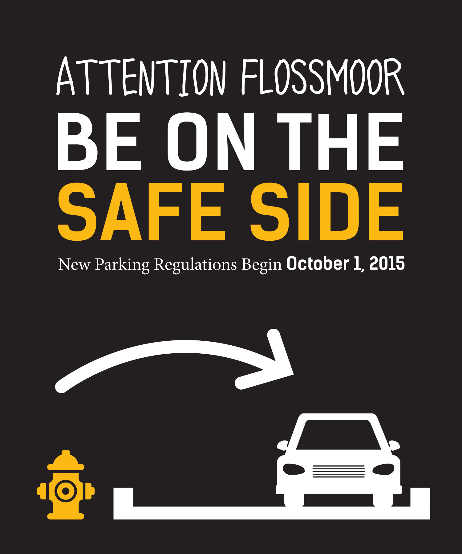 Attention Flossmoor: Be on the Safe Side. New Parking Regulations Begin October 1, 2015.